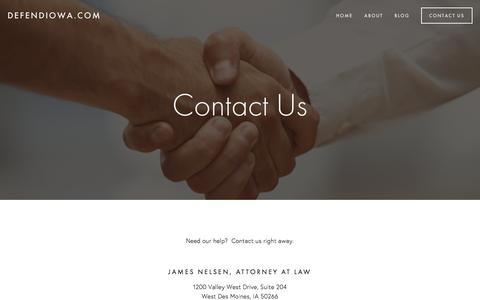 Screenshot of Contact Page defendiowa.com - Contact Us — defendiowa.com - captured Feb. 11, 2016