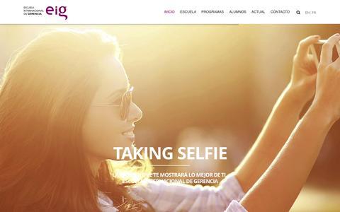 Screenshot of Home Page esgerencia.com - Escuela Internacional de Gerencia | EIG Granada - captured June 18, 2015