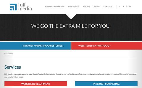 Screenshot of Services Page fullmedia.com - Website Design and Internet Marketing Services | Full Media - captured Oct. 30, 2014