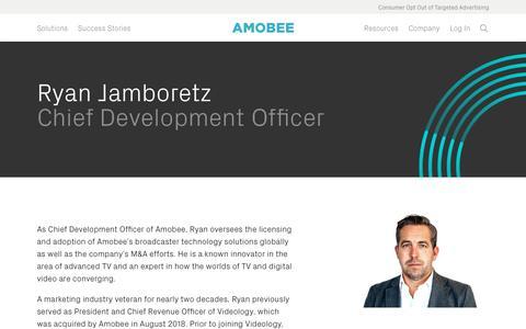 Screenshot of Team Page amobee.com - Ryan Jamboretz — Amobee - captured Nov. 18, 2019