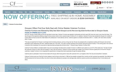 Screenshot of Press Page colemanfurniture.com - Coleman Furniture News - captured Sept. 24, 2014