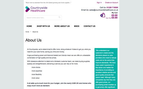 Screenshot of About Page countrywidehealthcare.co.uk - About Us - captured Sept. 5, 2017