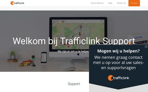 Screenshot of Support Page trafficlink.nl - Support - TrafficLink - captured July 7, 2018