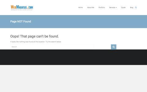 Screenshot of Blog webmaratus.com - 404 Not Found   - captured Sept. 22, 2015
