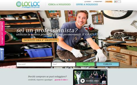 Screenshot of Home Page locloc.it - LocLoc - captured Jan. 31, 2016
