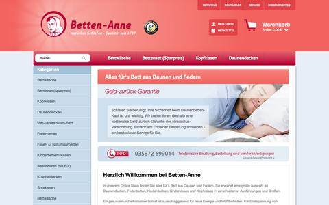 Screenshot of Home Page betten-anne.de - Betten-Anne - captured Sept. 23, 2014