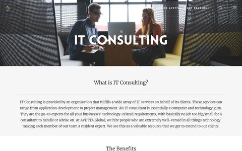 IT Consulting – AVETTA Global