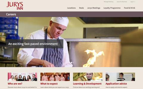 Screenshot of Jobs Page jurysinns.com - Jurys Inn - captured Sept. 25, 2014