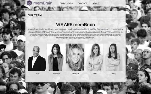 Screenshot of Team Page membrainllc.com - Our Team | Membrain LLC. - captured Oct. 6, 2014