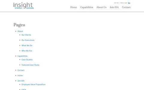 Screenshot of Site Map Page insightstrategyadvisors.com - Sitemap - Insight Strategy Advisors - captured Aug. 6, 2016