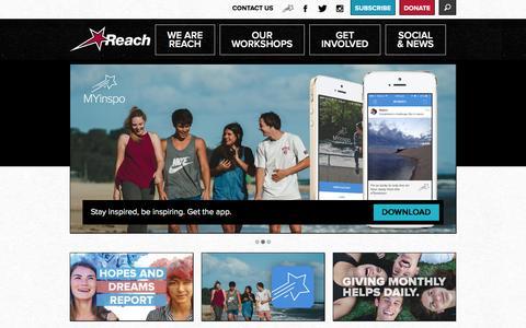 Screenshot of Home Page reach.org.au - The Reach Foundation - captured Feb. 28, 2016