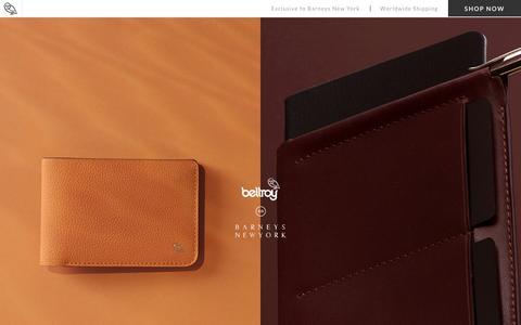 Bellroy XO Barneys New York - Slim Leather Wallets by Bellroy