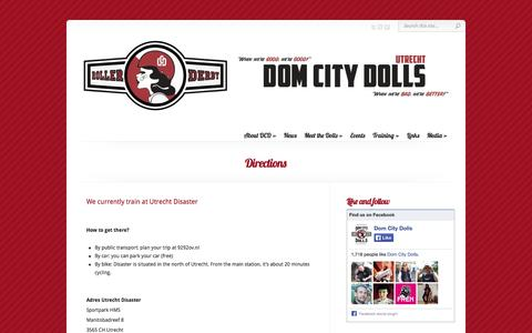 Screenshot of Maps & Directions Page domcitydolls.com - Directions | Dom City Dolls - captured Sept. 30, 2014