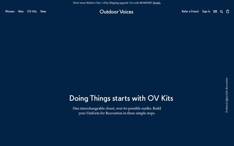 Outdoor Voices — Technical Apparel for Recreation