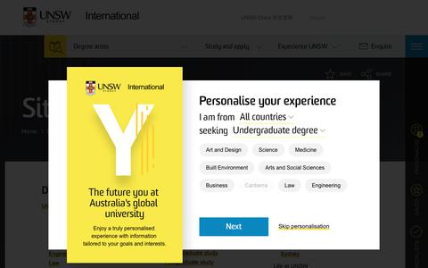 Screenshot of Site Map Page unsw.edu.au - UNSW International: Online University Sitemap - captured Feb. 21, 2018
