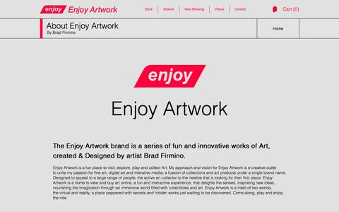 Screenshot of About Page enjoyartwork.com - Enjoy Artwork - captured Feb. 17, 2018