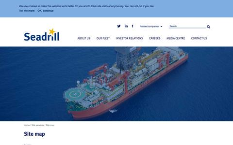 Screenshot of Site Map Page seadrill.com - Site map � Seadrill - captured Nov. 9, 2015