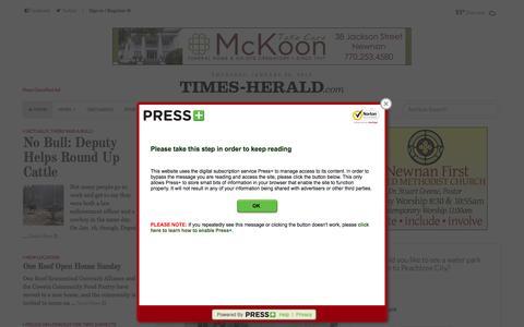 Screenshot of Home Page times-herald.com - The Newnan Times-Herald - captured Jan. 23, 2015