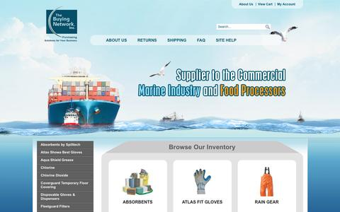 Screenshot of Home Page Privacy Page thebuyingnetwork.com - The Buying Network - Ship Supplies and seafood processing supplies - captured Dec. 3, 2016