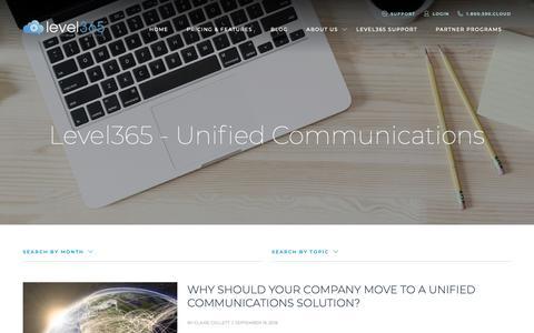 Screenshot of Blog level365.com - Blog - captured Sept. 28, 2018