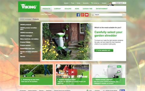 Screenshot of Products Page viking-garden.com - Products VIKING - captured Sept. 22, 2014