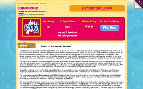 Screenshot of ohmybingo.com - Scratch.co.uk | Great online scratchcard site - OhMyBingo - captured March 19, 2016