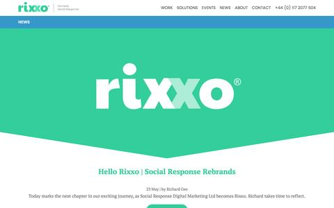 Screenshot of Press Page rixxo.com - News from Rixxo | An agency redefining audience engagement - captured May 24, 2017