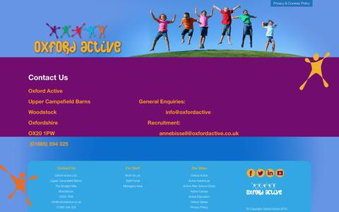 Screenshot of Contact Page oxfordactive.co.uk - Contact Us - Oxford Active - captured Oct. 3, 2018