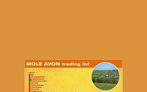 Screenshot of Site Map Page moleavon.co.uk - Mole Avon · Welcome - captured Oct. 1, 2014