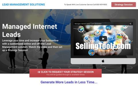 Screenshot of Home Page leads-management.com - Lead Management Solutions - captured April 22, 2016