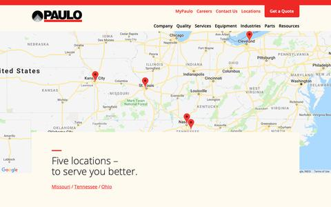 Screenshot of Locations Page paulo.com - Locations Archive | Paulo - captured Sept. 27, 2018