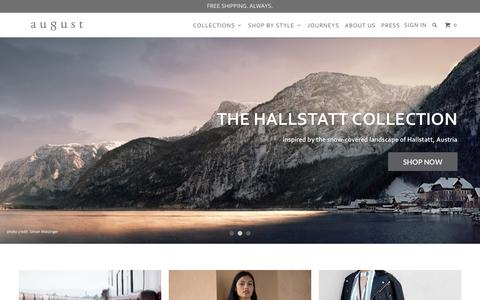 Screenshot of Home Page augustca.com - August - LA-Made Luxury Handbags - captured Oct. 9, 2017