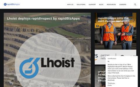Screenshot of Press Page rapidbizapps.com - rapidBizApps News Room - captured Dec. 11, 2018