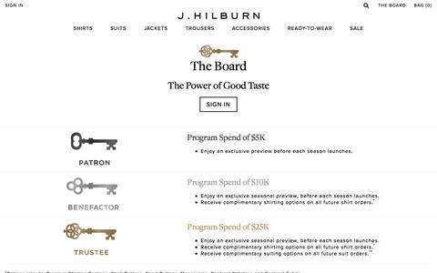 The Board - Loyalty Program | J.Hilburn