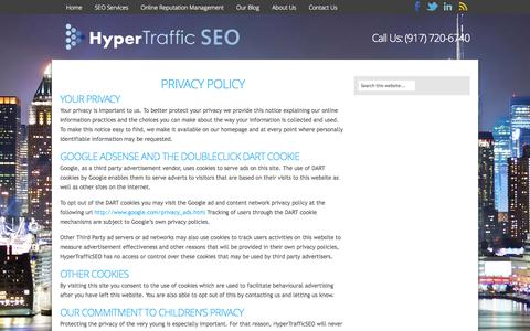 Screenshot of Privacy Page hypertrafficseo.com - Privacy Policy | HyperTraffic SEO - captured Sept. 30, 2014