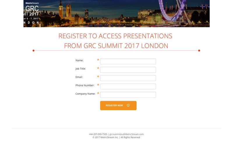 Watch GRC Summit 2017 | Washington D.C