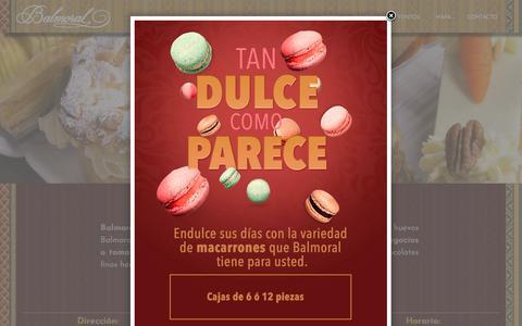 Screenshot of Home Page balmoral.com.mx - Restaurante de Comida Internacional y Salón de Té en CDMX | Balmoral - captured Dec. 18, 2017