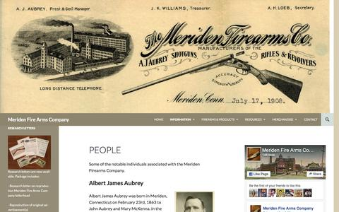 Screenshot of Team Page wordpress.com - People | Meriden Fire Arms Company - captured March 16, 2017