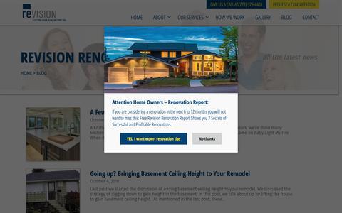 Screenshot of Blog revisionrenovations.com - Blog - reVISION Custom Home Renovations - captured Oct. 20, 2018