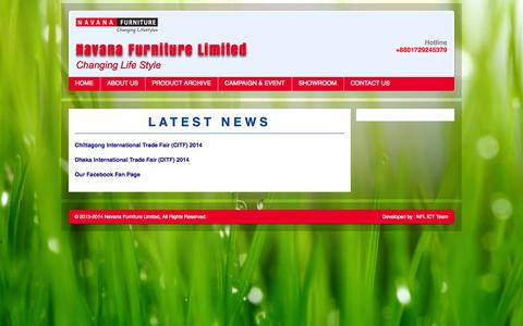Screenshot of Press Page navanafurniture.com - News | Navana Furniture Limited - captured Oct. 7, 2014