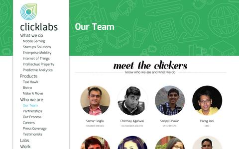 Screenshot of Team Page click-labs.com - Click Labs Team : Meet The Clickers - captured Oct. 10, 2014
