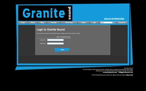 Screenshot of Login Page granitesound.com - Granite Sound - Login - captured Oct. 3, 2014