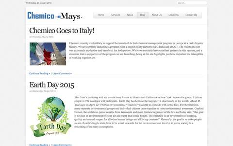Screenshot of Blog chemicomays.com - Chemico ConneXion | The Chemico Blog - captured Jan. 27, 2016
