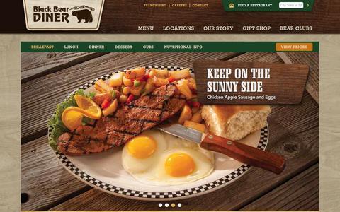 Screenshot of Menu Page blackbeardiner.com - Breakfast | Black Bear Diner - captured Dec. 4, 2015