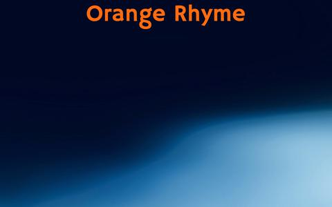 Screenshot of Home Page orangerhyme.com - Orange Rhyme — orangerhyme.com - captured Dec. 10, 2018
