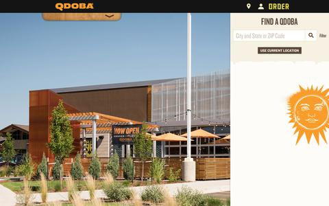 Screenshot of Locations Page qdoba.com - QDOBA Locations | Mexican Restaurants & Catering Nearby - captured June 25, 2017