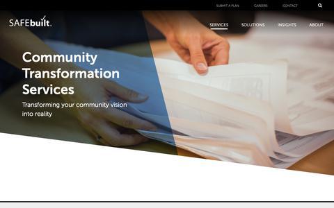 Screenshot of Services Page safebuilt.com - Community Transformation Services - SAFEbuilt - captured March 29, 2019