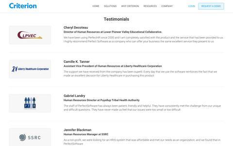 Criterion | Modern Platform for HR, Benefits, and Payroll