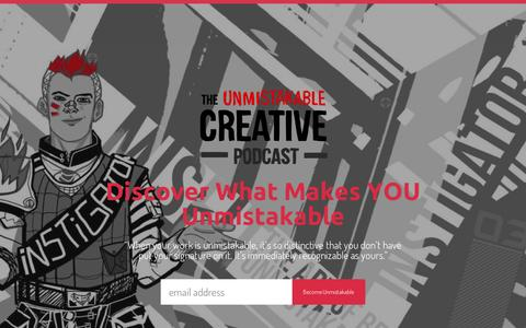 Screenshot of About Page unmistakablecreative.com - About | Unmistakable Creative - captured Dec. 2, 2015