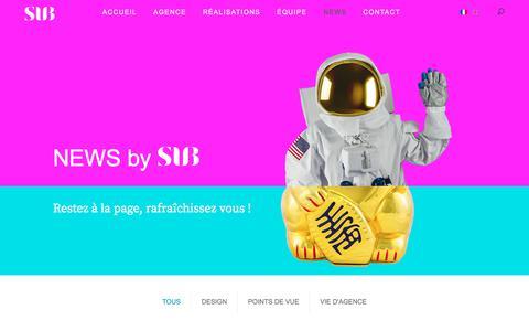 Screenshot of Press Page subdesign.fr - News | SUBDESIGN - captured July 26, 2018